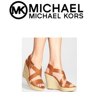 MICHAEL Kors Giovanna Leather Espadrille  Sandal